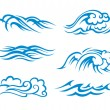 Stock Vector: Surf waves