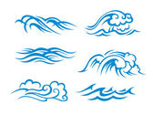 Surf waves — Stockvector