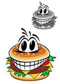 Cartoon hamburger — Stockvector