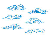 Blue sea waves — Stock Vector