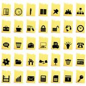 Unternehmen und das büro-icon-set — Stockvektor