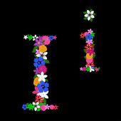 Floral letter — Vector de stock