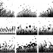 Meadow silhouettes — Stock vektor