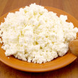 Plate with cottage cheese — Stock Photo