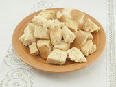 Plate of crackers — Stock Photo