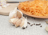 Components for a dish — Stock Photo