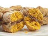 Metà e metà biscotti — Foto Stock