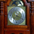 Wooden old-fashioned clock — Foto Stock