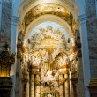 Altar at St. Charles church - Stock Photo