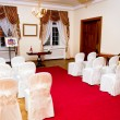 Hall is ready for wedding ceremony — Stock Photo