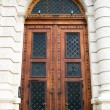 Ancient wooden door design — Stock Photo