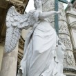 Angel statue  neat The St. Charles's Church (Karlskirche), Vienn — Stock Photo