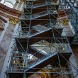 Scaffolding inside of Karlskirche - 