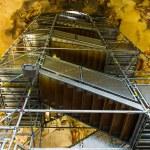 Scaffolding inside of Karlskirche — Stock Photo