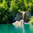 Beautiful waterfall in the Plitvice Lakes National Park in Croat — Stock Photo #10681084