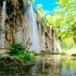 Beautiful waterfall in the Plitvice Lakes National Park in Croatia — Stock Photo #10707832