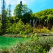 Beautiful landscape. Plitvice Lakes National Park in Croatia - Photo
