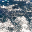 Alps, aerial view from window of airplane — Stock Photo