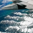 Royalty-Free Stock Photo: Alps, aerial view from window of airplane