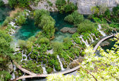 Breathtaking view in the Plitvice Lakes National Park. Croatia — Stock Photo