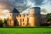 старый замок в цесисе, латвия — Стоковое фото