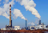 Power plant in Riga, aerial view — Stock Photo