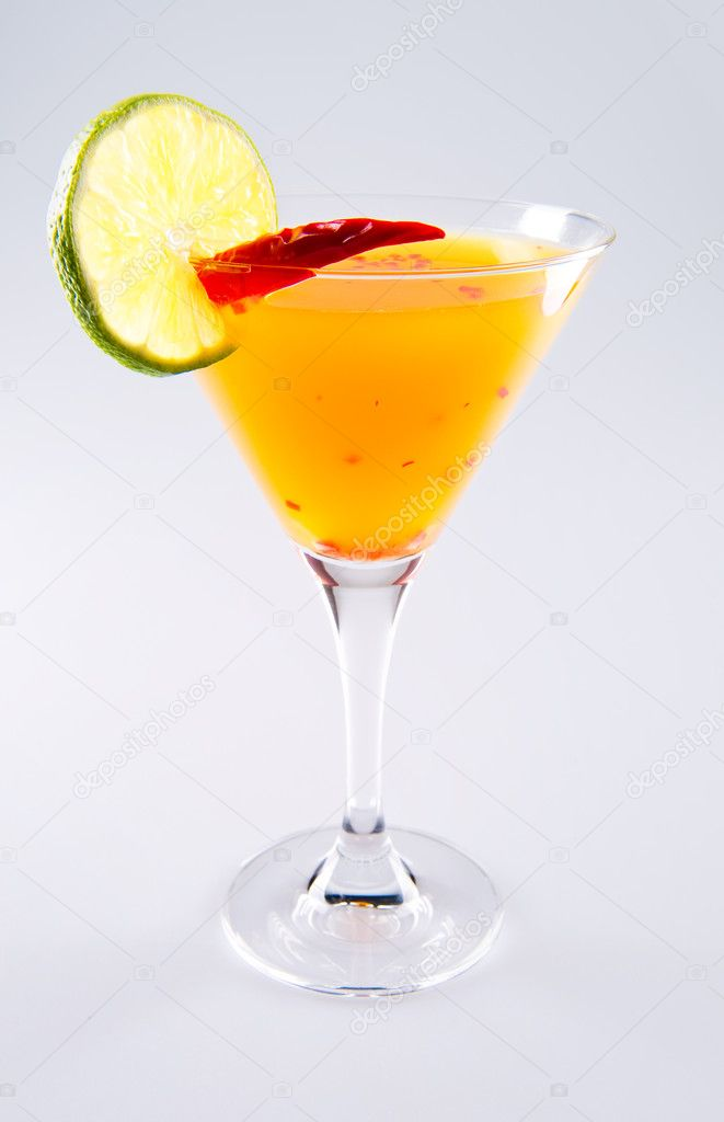 Suite cocktail over white background — Stock Photo #8887595