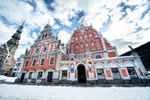 House of the Blackheads and St. Peter's Church — Stock Photo