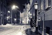 Night town in winter. Riga, Latvia — Stock Photo