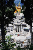 Medieval cemetery n Nice, France — Stock Photo