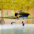 Jet airplane in hangar — Stock Photo #9335678