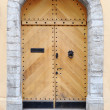 Stock Photo: Ancient wooden door