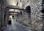 Street in old town in Tallinn, Estonia — Stock Photo