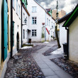 Stock Photo: Street in old town in Tallinn, Estonia