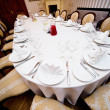 Stock Photo: Table appointments for wedding dinner