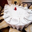 Table appointments for wedding dinner - Foto Stock