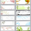 Cтоковый вектор: Set of twelve different business cards