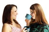 Drinking tea — Stock Photo