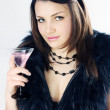 Woman in furs - Stock Photo