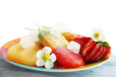 Frozen strawberry juice — Stock Photo
