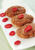 Cutlets with the pepper — Stock Photo