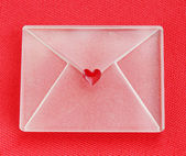 Envelope with heart — Stock Photo
