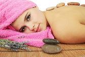 Stones massage — Stock Photo