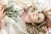 Beautiful woman / old photo — Stock Photo