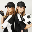 Stock Photo: Two soccer coaches