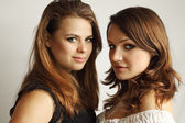 Two lesbian girls — Stock Photo