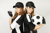 Two soccer coaches — Stock Photo