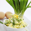 Stock Photo: Spring salad on wooden board