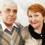 Smiled elderly pair — Stock Photo