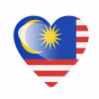 Royalty-Free Stock Photo: Malaysia 3D heart shaped flag